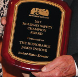 ATSSA awards Sen. Inhofe as Roadway Safety Champion