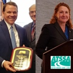 ATSSA presents Rep. Esty and Rep. Graves with Roadway Safety Champion Award